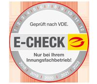 E Check Plakette